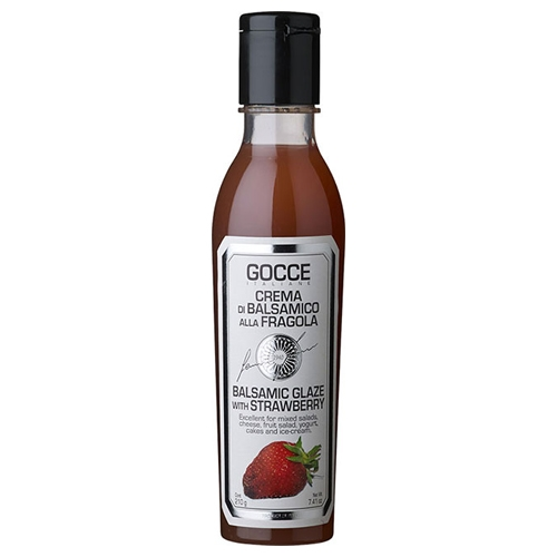 Gocce rote Balsamicocreme mit Erdbeere, 210ml.