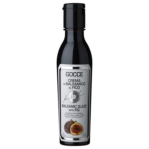 Gocce dunkle Balsamicocreme mit Feige, 210ml.