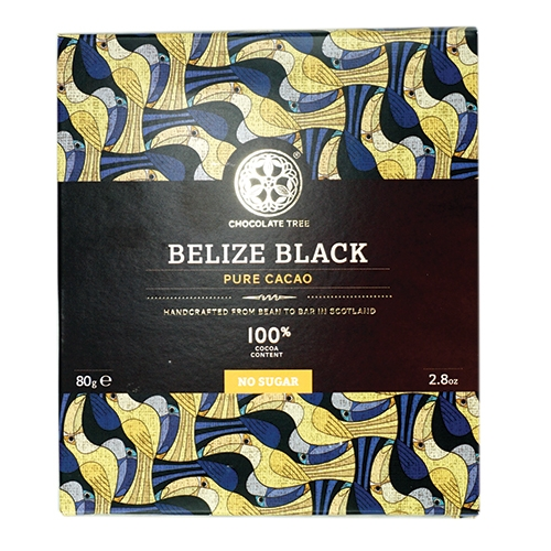 Chocolate Tree, Belize Black Dunkle Schokolade 100%, BIO, 80g.