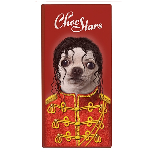 "ChocStars ""King of Pop"", Dunkle Schokolade, 50%, 100g."