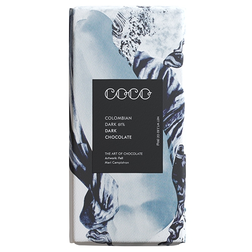 COCO Chocolatier, Colombian Dunkle Schokolade 61%, 80g.