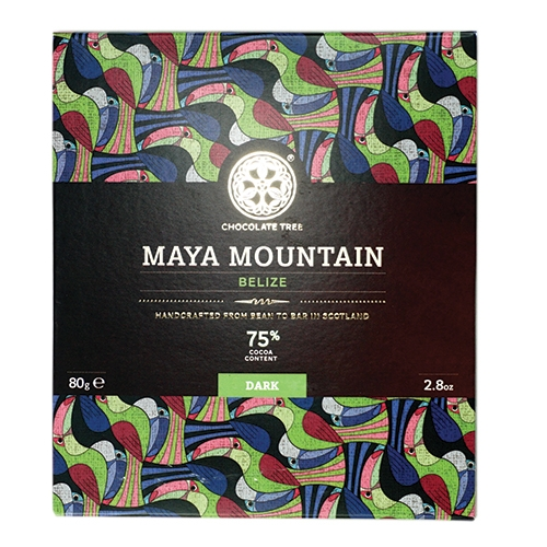 Chocolate Tree, Maya Mountain Belize 75%, BIO, 80g.