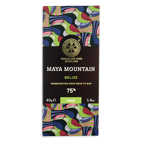 Chocolate Tree, Maya Mountain Belize 75%, BIO, 40g.