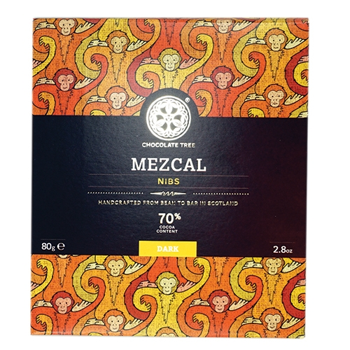 Chocolate Tree, Mezcal Nibs 70%, BIO, 80g.