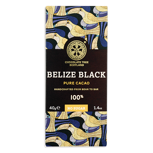 Chocolate Tree, Belize Black Dunkle Schokolade 100%, BIO, 40g.