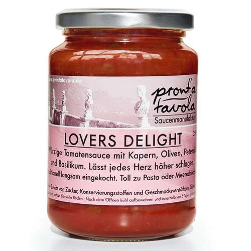 pront'a tavola, Lovers Delight, Tomatensauce, 350g.