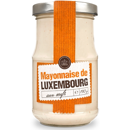 Moutarderie de Luxembourg, Mayonnaise mit Eiern, Glas, 190g.