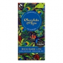 Chocolate and Love, Dunkle Schokolade Rich Dark, Peru und Dom. Republik, 71%, 80g.